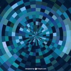 蓝抽象几何背景