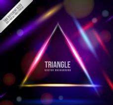 幻彩三角形背景