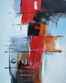 抽象油画无框画适合现代风格