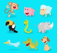 卡通动物矢量素材