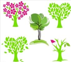心形树矢量图图片