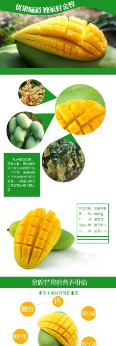 金煌大芒果热带水果淘宝详情页模板