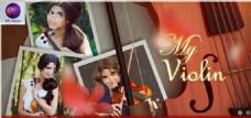 小提琴音乐生涯相册AE模板