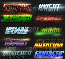 10款游戏风格艺术字设计PS样式V3
