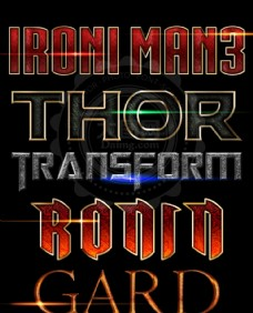 超酷的电影主题风格字体样式