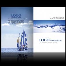 企业画册内页扬帆起航企业文化PSD素材
