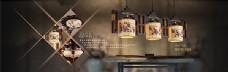 中国风淘宝陶瓷灯具促销海报
