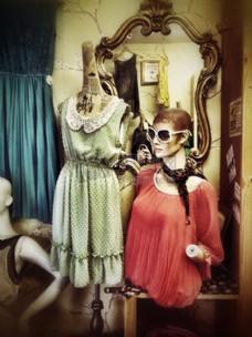 模特身上时尚的服装