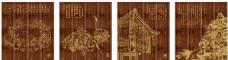 木雕墙体装饰画