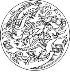 凤凰 凤纹图案 鸟类装饰图案 矢量素材 CDR格式_0119