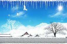冬天雪景素材