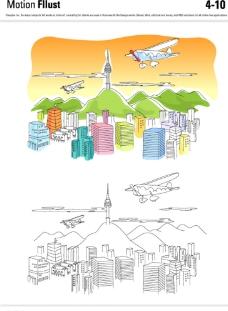 城市矢量插画图片