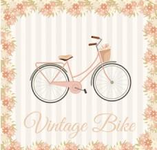 卡通自行车素材