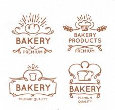 线条面包标签