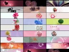 25款淘宝情人节温馨广告背景图片素材