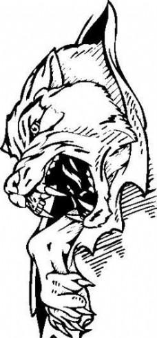 装饰图案 动物猛兽 图腾矢量素材 ai格式_10