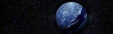 纯色星球banner创意设计
