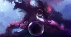 紫色泡泡图片