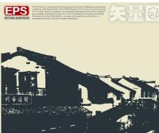 建筑剪影图片