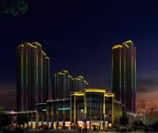 建筑亮化图片
