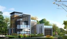 现代风格别墅效果图图片