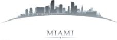 迈阿密城市剪影图片