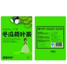 冬瓜荷叶 茶 标签