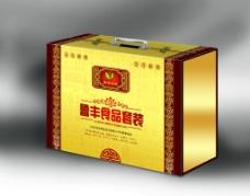 贡枣手提礼盒黄款