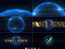 用E3D插件制作蓝色3D地球电影片