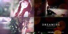 梦幻光影中的唯美图片幻灯展示AE模板