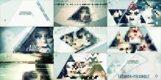 时尚创意的三角形主题摄影杂志