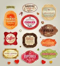 美食标签贴纸