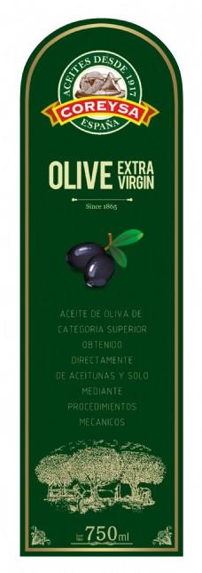 橄榄油商品标签