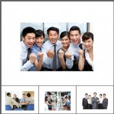 一组优秀的商务团队插图PPT素材