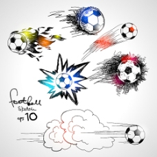 卡通涂鸦足球标志