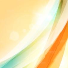 黄色炫彩光线光效背景矢量素材
