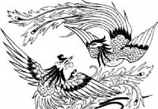 凤凰 凤纹图案 鸟类装饰图案 矢量素材 CDR格式_0041