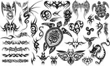 创意动物图案纹身