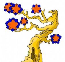 树木古典插画