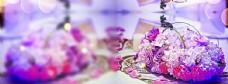香水紫色梦幻花球背景banner