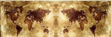 怀旧复古世界地图banner创意海报设计