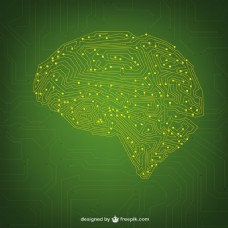 绿色网络概念背景