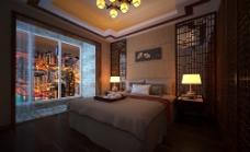 简约中式卧室图片