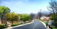 道路景观效果图片