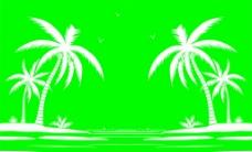 椰树矢量图图片