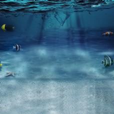 海洋模板素材