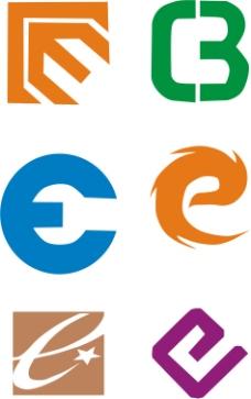 e字母logo设计素材