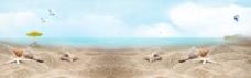 沙滩海滩天空