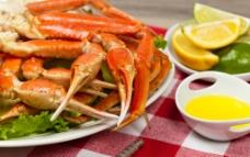 海鲜食物大餐 海鲜 大闸蟹图片