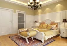 室内设计,书房模型,桌椅组合